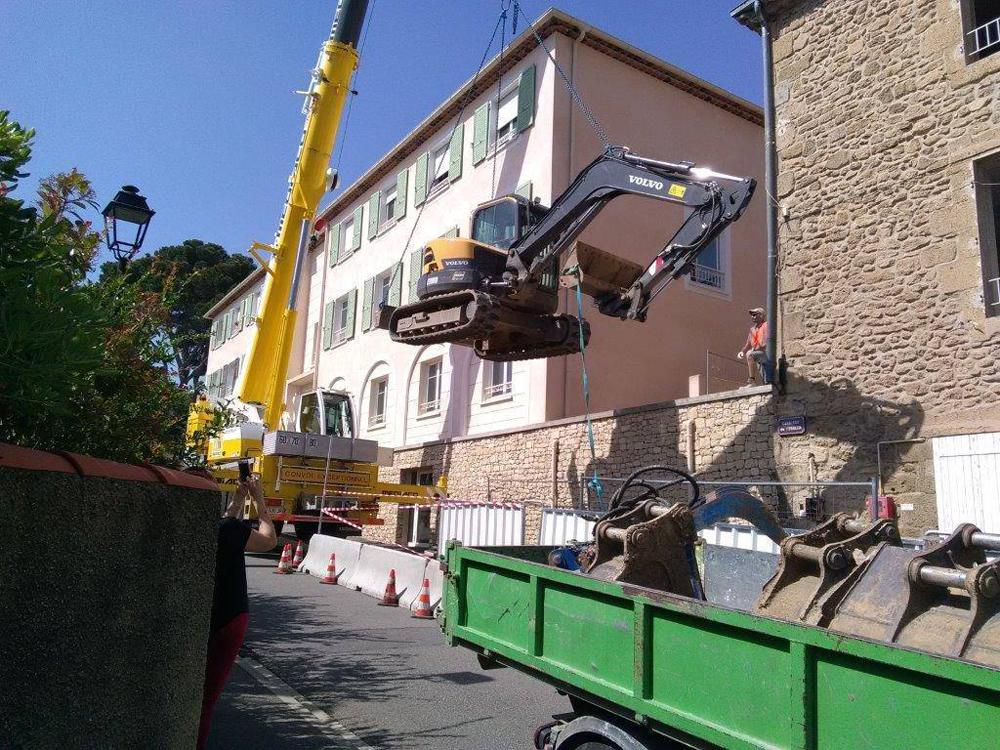demolition bord route marseille